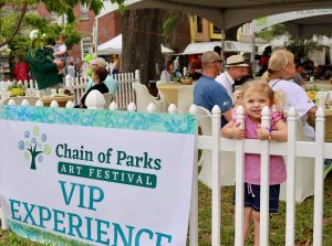 VIP sign at Tallahassee festival, Chain of Parks