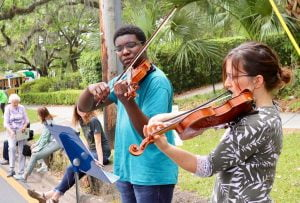 violin playing at tallahassee festival, Chain of Parks