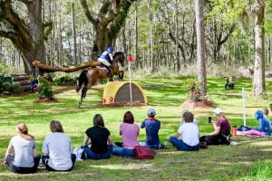 spectators at Red Hills horse trials in Tallahassee