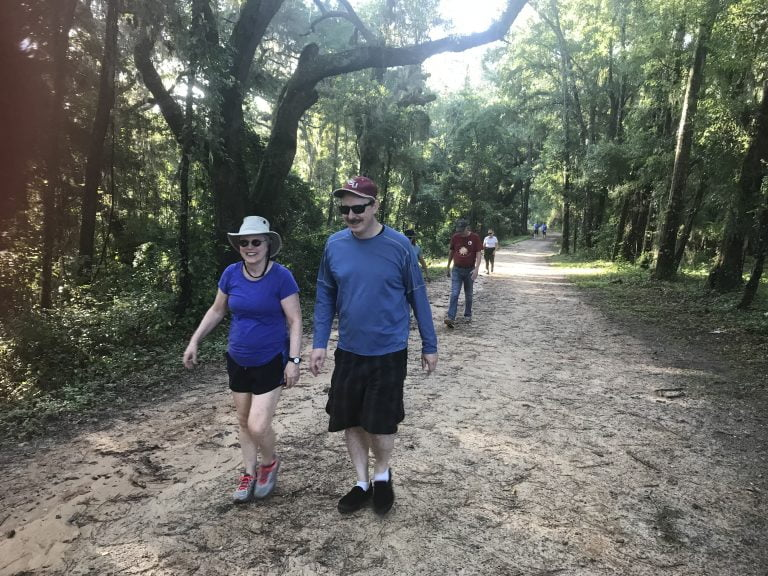 Walkers enjoying Lafayette Heritage Trail | Photo Credit: Gregg Patterson
