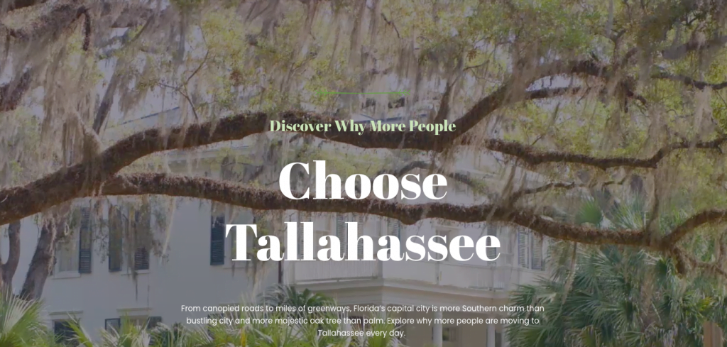 move to Florida choose tallahassee homepage