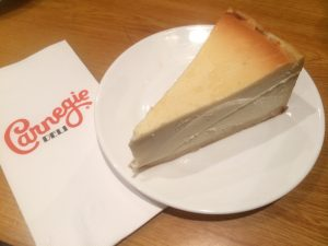 Cheesecake from the Carnegie Deli