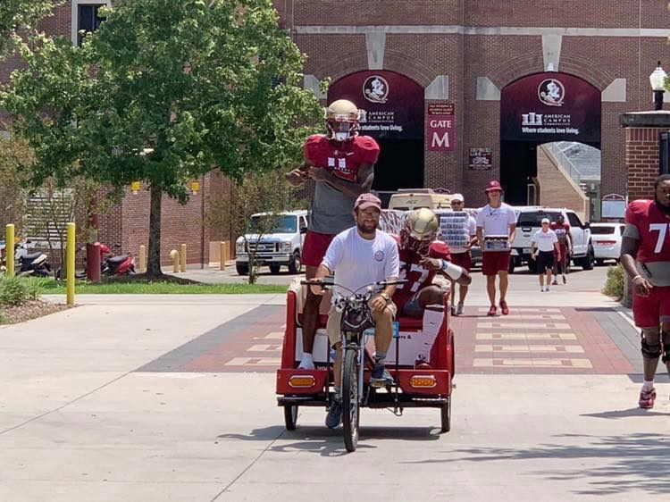 Mike Goldstein, owner of Capital City Pedicabs, at FSU