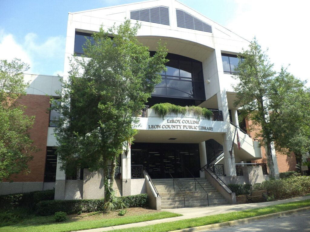 1 of Tallahassee's 7 public libraries, the Leroy Collins Main Public Library