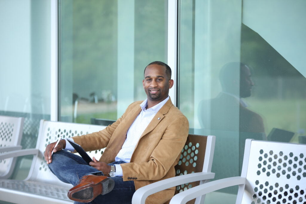 Brian Wyatt, CEO of B-EZ Graphics. Choose Tallahassee Black History Month