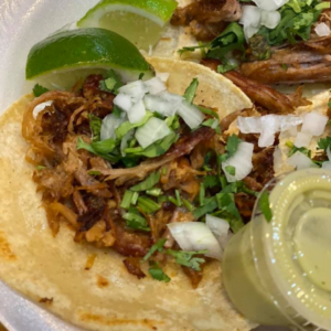 Authentic Mexican street food tacos