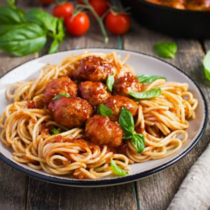 Spaghetti and meatballs from Tour of Italy