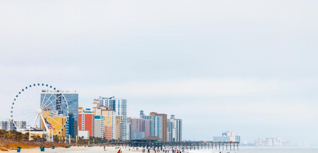 Myrtle Beach, South Carolina beach and boardwalk