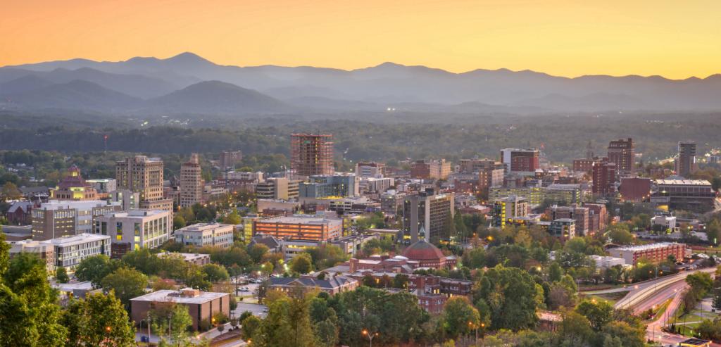 Asheville, North Carolina cityscape
