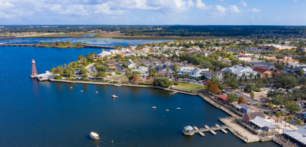 The Villages, Florida cityscape and waterfront access