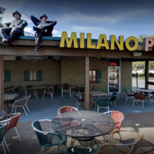 Milano Pizzeria: If you thought the days of a $5 lunch was gone, think again. Head over for lunch, where you can get 2 slices of pizza and a drink for $4.95. And on most evenings, you can sit outside on their patio and enjoy live music, with your pup by your side. Now that's a treat. NOTE: As of June 10, 2021 Milano's is temporarily closed while they look for a new restaurant location.
